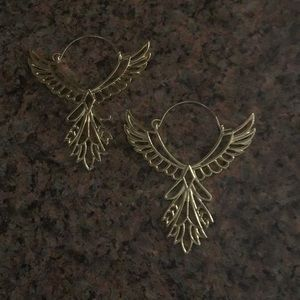 Rise of the Phoenix hanging earrings